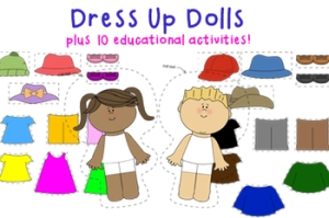 dress up dolls cover